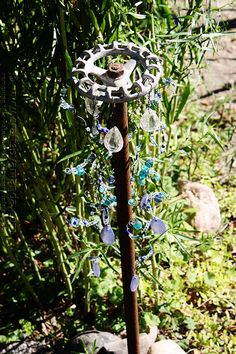 Add crystals and beads to just about anything in the yard and garden!