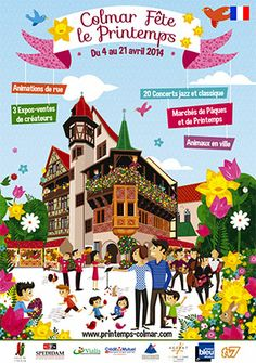 L'affiche 2014 en mode illustré - Le Printemps de Colmar (www.printemps-colmar.com)