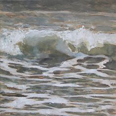 the sea is history, by Rachel Wiley-Janota, seascape, gulf coast, texas, wave painting, coast, storm, galveston island, texas coast, grey, waves