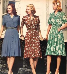 How we wear vintage // - vintage outfits Fashion Moda, Fashion Days, Look Fashion, Retro Fashion, Fashion Vintage, 1940s Fashion Women, Fashion Wear, Dress Fashion, Club Fashion