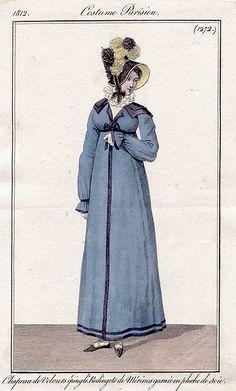 Redingote de merino 1812 costume parisien