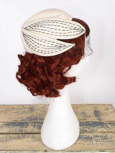Vintage 1950's Hat  The Maple Cream Felt Hat w/ by SwellFarewell, $55.00