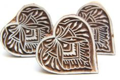 Heart shaped Indian Wood Block Stamp