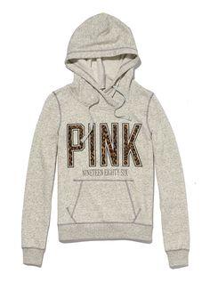 Funnelneck Perfect Pullover Hoodie - PINK - Victoria's Secret