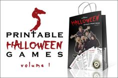 Great value for money! This Halloween Printable Games Partybag (Volume 1) holds 5 of PartyFunPrintables.com's popular Halloween games.