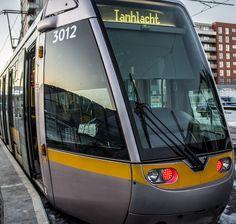 Luas Tram - Red Line (Dublin) Metro Rail, Dublin Travel, Train Posters, Heavy And Light, Rail Transport, Train Engines, Light Rail, Electric Locomotive, Trains