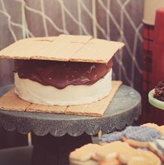 This jumbo S'more Cake is a perfect for your summer birthday party or get together.