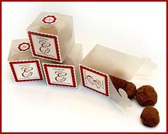 wedding favors..homemade chocolate truffles...