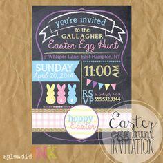 CUSTOM printable Egg Hunt Invitation by SplendidINK on Etsy, $10.00 Occasion Spéciale, Spring Has Sprung, Egg Hunt, Invitation, Eggs, Egg As Food, Invitations, Egg