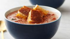From now on, we're turning all of our grilled cheese sandwiches into croutons for this creamy, hearty and ultra-easy tomato soup.