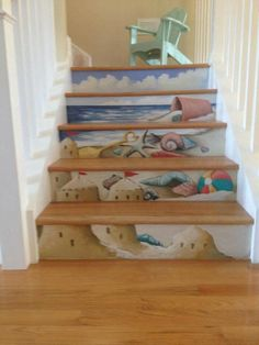 More awesome murals for a beach house stairway :)