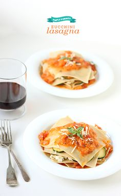 No-Bake Zucchini Lasagna