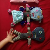 zombi dollz  hand crafted by Zombi Mom
