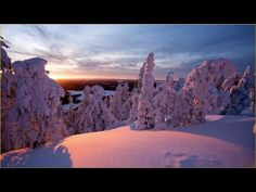 Lapland ,Finland: <<< This is soooo beautiful! We have the same landscape in the Swedish Lappland. View of my childhood ❤ Tree Hd Wallpaper, Winter Wallpaper, Sunset Wallpaper, Wallpaper Pictures, Landscape Wallpaper, Mountain Sunset, Snow Mountain, Antonio Molina, Herbert Von Karajan