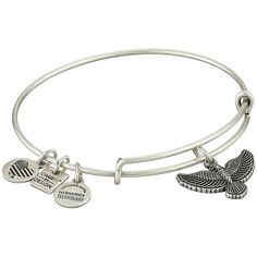 Alex and Ani Charity by Design Spirit of the Eagle Charm Bangle... ($28) ❤ liked on Polyvore featuring jewelry, bracelets, adjustable bangle, charm bangle, heart bangle, bangle charm bracelet and heart jewelry