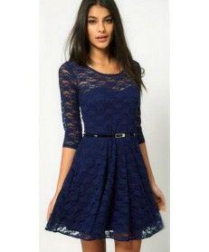 b00cd9a316f Obrázek Dámské krajkové šaty Tiguana modré AKCE - modrá Šaty Na Školní  Ples
