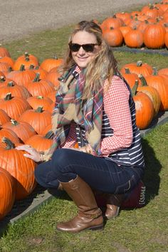 Style in a Small Town | Print Mixing on the Farm   Blanket Scarves | http://www.styleinasmalltown.com