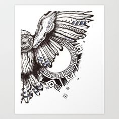 Owl of Athena Art Print by ShatteredDark - $14.68