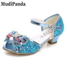 MudiPanda Sandalias Rosa para niñas 2018 primavera nueva moda niña princesa  sandalias arco zapatos de tacón 17cc87659115
