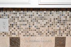 Step by Step Installing a Mosaic Tile Back-splash #Kitchen #Backsplash #DIY