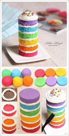 粘土做的彩虹蛋糕