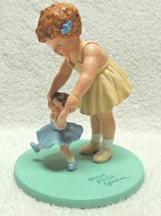 "Bessie Pease Gutmann, Illustrator, ""First Step"", circa 1993, from the Bessie Pease Gutmann Figurine Collection, distributed by the Danbury Mint, Balliol Corporation, Lancaster, PA."