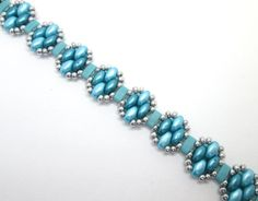 Turquoise and silver bracelet friendship by BuzzybeeBeading