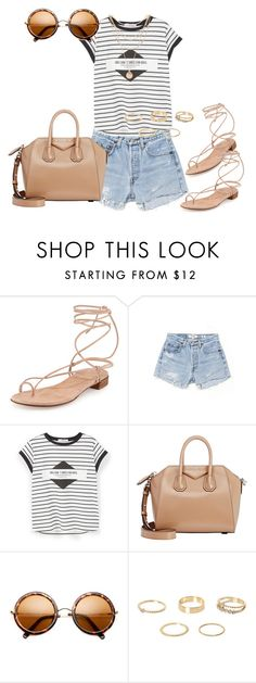 """""""Untitled #288"""" by charlotte-down on Polyvore featuring Stuart Weitzman, RE/DONE, MANGO, Givenchy, River Island and Forever 21"""