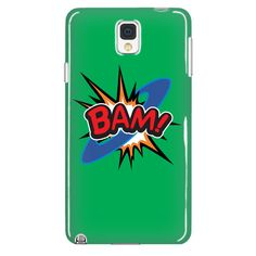 BAM! Galaxy Note 4 cell phone case (Green)