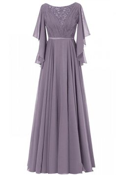 Ruffle Sleeves Chiffon Mother of the Bride Groom Dress Evening Formal Gowns Long Mothers Dress, Mother Of The Bride Dresses Long, Mothers Dresses, Dress Long, Hijab Dress Party, Half Sleeve Dresses, Half Sleeves, Dress Pesta, Long Bridesmaid Dresses