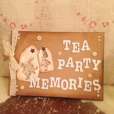 Look what's arrived in our Hen Shop - a vintage Alice in Wonderland take on our #henparty guest books! £26.00 #MadHattersTeaParty #AliceinWonderland #henpartyaccessories