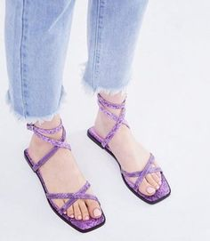 Browse online for the newest ASOS DESIGN Foresight strappy sandals in snake styles. Shop easier with ASOS' multiple payments and return options (Ts&Cs apply). Safari, Espadrille Sandals, Strappy Sandals, Sandals Outfit, Asos, Open Toe Flats, Sneaker Heels, Mode Online, Cheap Shoes