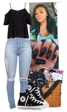 """""""⚫️❤️"""" by jasmine1164 ❤ liked on Polyvore featuring Converse"""