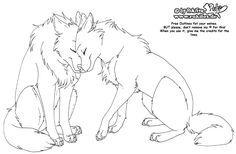 Anime Wolf Couple Coloring Pages 7 – Coloring Pages For kids Anime Drawing Books, Anime Wolf Drawing, Animal Coloring Pages, Coloring Pages For Kids, Animal Sketches, Animal Drawings, Anime Wolf Zeichnung, Wolf Base, Cute Wolf Drawings