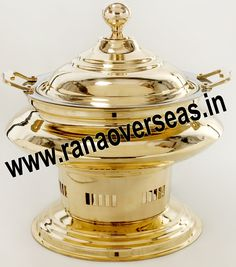 Brass Chafing Dish Mirror Finish, Corrosion resistant, Easy to clean and Perfect finish. Available Sizes :- 4 Litres, 6 Litres and 8 Litres. Applications :- Hotels , Restaurants, Caterers, Inns, Parties, Banquet Halls, Eating Outlets  Brass Chafing Dishes are also ideal gift items. An extensive range of our Brass Chafing Dishes includes superior quality Decorative Brass Chafing Dishes that are fabricated from supreme quality metals. Our entire range of these Brass Chafing Dishes is praised…