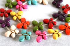 Full Strand of Mixed Color Butterfly Magnesite by VJsBeadsnNeeds