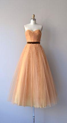Gingerbelle dress vintage 1950s tulle dress 50s by DearGolden