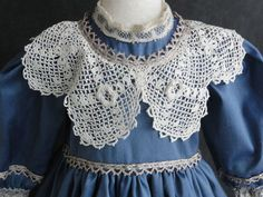 """French Doll Dress Antique Style for Jumeau Bru 18 20""""Doll Made in France   eBay"""