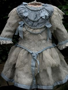 French Silk Lace Doll Dress for Antique Dolls 2 Pieces | eBay