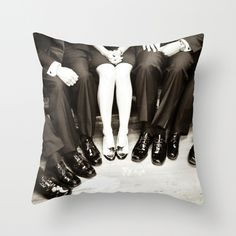 The Groomswoman Throw Pillow . black and white modern home decor