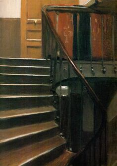 stairway at 48 rue de lille edward hopper michele roohani whitney museum