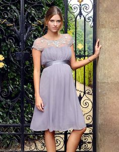 d678f809818 Taupe Beaded Maternity Cocktail Dress | Seraphine Spring Wedding Flowers,  Wedding Table Flowers, Wedding