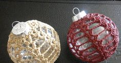 Lacy Crocheted Christmas Ornament This is an idea that can be adjusted to any shape ornament.  Materials: Size 10 Thread 1.75 mm Hook Yarn N...