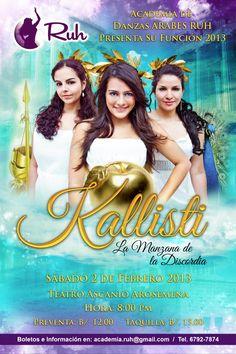 Flyer para show de Bellydance! #bellydance #Panama #Kallisti #DanzaArabe #Digital #Art #Graphic #Design #Flyer