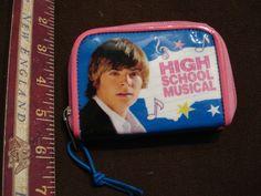 Disney High School Musical Bi Fold Kids Wallet zip around ID window #Disney