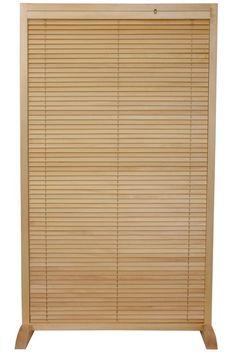 5 ft. Tall Wooden Shutter Freestanding Room Divider | RoomDividers.com