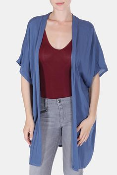 Timeless kimono that feels elegant and bohemian. Toss on to add a little extra element to any outfit. Looks great with a tank and jeans for worn over maxi dresses. Soft, free flowing and easy to wear this piece is an essential for any wardrobe.     Topanga Kimono by ShopGoldies. Clothing - Jackets, Coats & Blazers - Kimonos & Wraps California