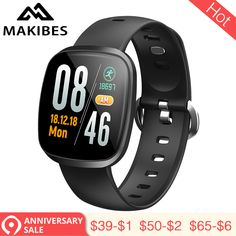 New MAKIBES Wristband Bracelet 60 days Standby Fitness Tracker SmartBand for xiaomi Huawei upgrade version. Smartwatch, Military Style Watches, Fitness Monitor, Yes Band, Fitness Bracelet, Heart Rate Monitor, Fitness Tracker, Blood Pressure, Men's Watches