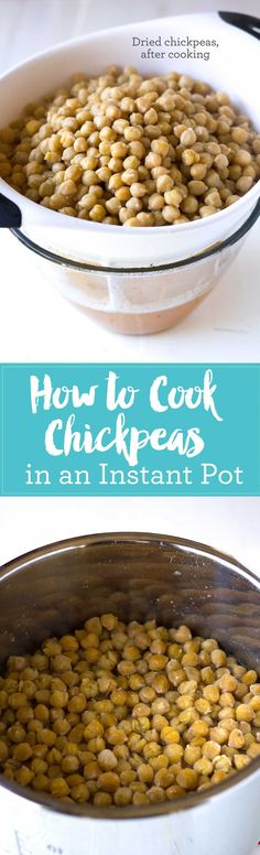 How to Cook Chickpeas in an Instant Pot and Save Money | http://eatwithinyourmeans.com