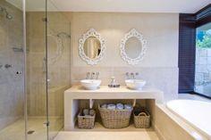Bathroom design ideas, photos of bathrooms - Designbook Double Vanity, Bathroom Ideas, Mirror, Space, Design Ideas, Nifty, Furniture, Bathrooms, Home Decor